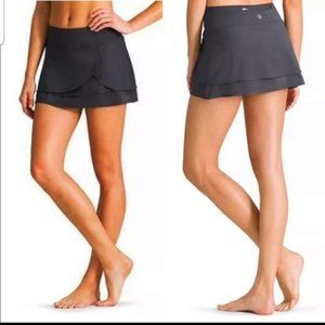 Athleta Gray Fly By Athletic Tennis Skort Skirt